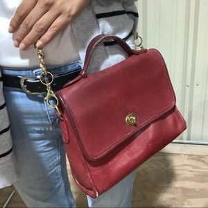 Coach red vintage court bag